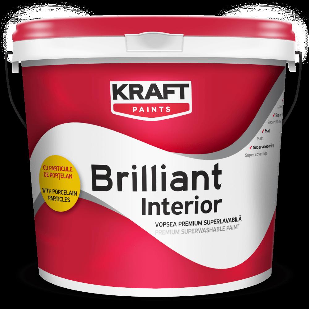 Tencuiala Decorativa Kraft.Vopsea Lavabila Kraft Briliant Cu Particule De Portelan Ptr Interior